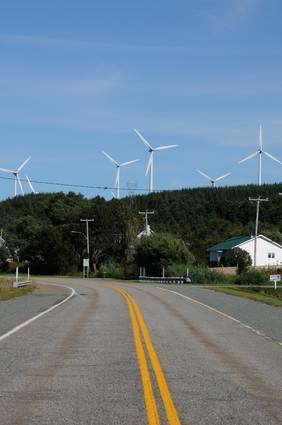 Quebec, wind generator in Cap Chat in Gaspesie